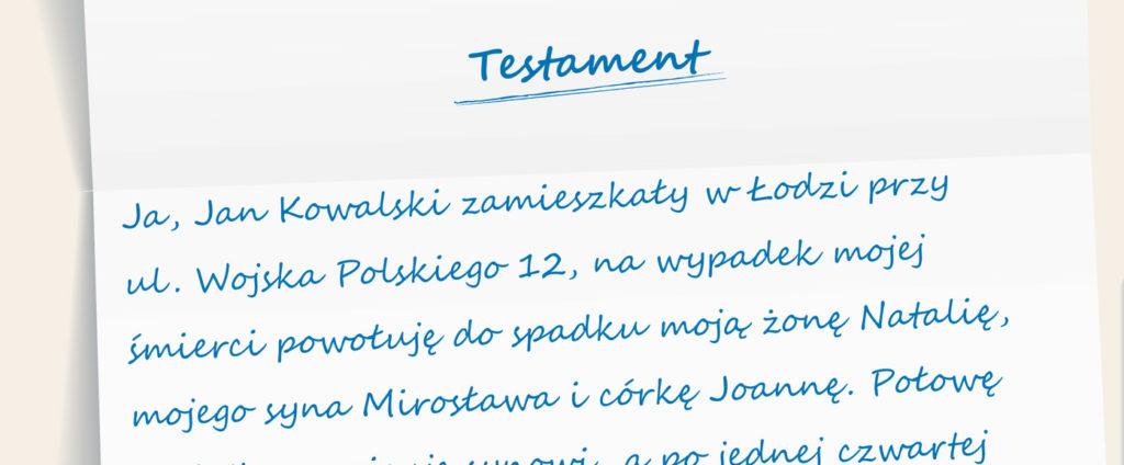 testament Łódź Pabianice Zgierz